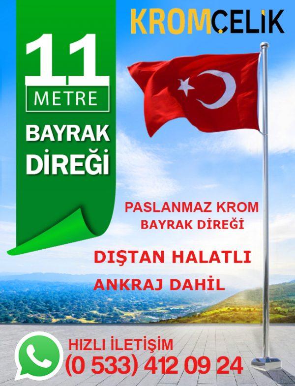 11 Metre Dıştan İpli Bayrak Direği