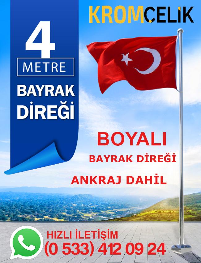 4 Metre Boyalı Bayrak Direği