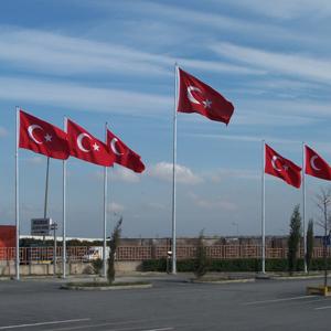 Boyalı Bayrak Direği