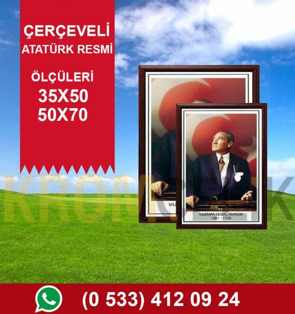 Çerçeveli Atatürk Resmi